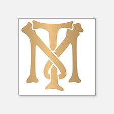 "tony-montana-monogram-gold Square Sticker 3"" x 3"""