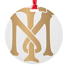 tony-montana-monogram-gold Ornament