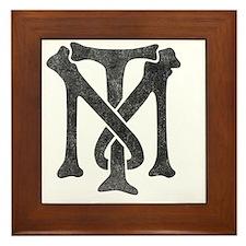 tony-montana-logo-vintage Framed Tile