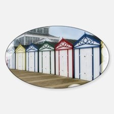 Beach Huts (Bubbles1) Sticker (Oval)