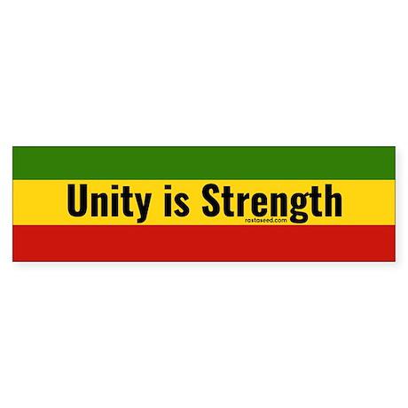 Rasta Gear Shop Unity is Strength Bumper Sticker