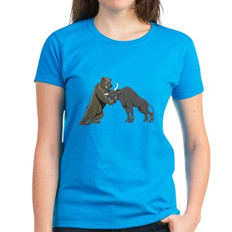 Bull vs. Bear Markets Women's Dark T-Shirt