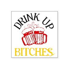 "drinkup4 Square Sticker 3"" x 3"""