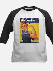 Women We Can Do It Kids Baseball Jersey