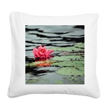 water lilly Square Canvas Pillow