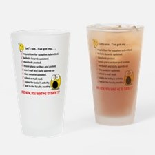 WhiteLetsSee Drinking Glass