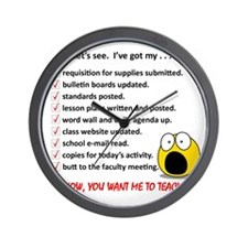 WhiteLetsSee Wall Clock