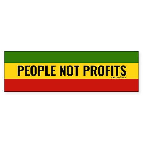 Rasta Gear Shop People not Profits Bumper Sticker