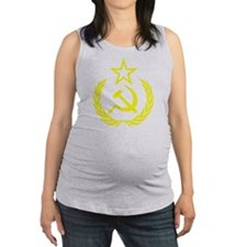 hammer sickle gold Maternity Tank Top