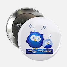 Happy Hanukkah Owls 2.25&Quot; Button (10 Pack)