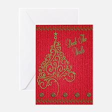 Knit_Red_DeckTW_KindelSleeve Greeting Card