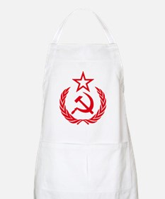 hammer sickle red Apron