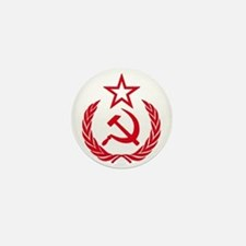 hammer sickle red Mini Button