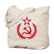 hammer sickle red Tote Bag