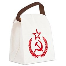 hammer sickle red Canvas Lunch Bag