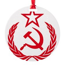 hammer sickle red Ornament