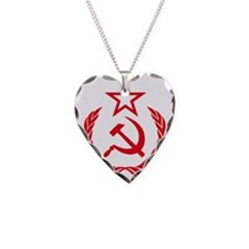hammer sickle red Necklace