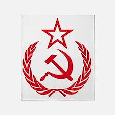 hammer sickle red Throw Blanket
