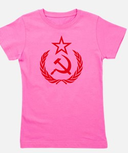 hammer sickle red Girl's Tee