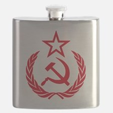 hammer sickle red Flask