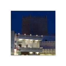 "Doha. Souk Waqif- restored  Square Sticker 3"" x 3"""