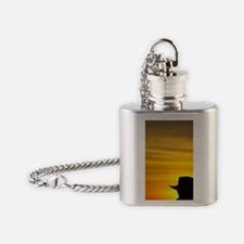 Man in Akubra at Sunrise, Mount Buf Flask Necklace