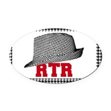 rtr hat Oval Car Magnet