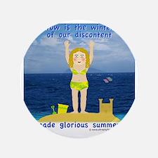 """Summer Rosie 3.5"""" Button"""