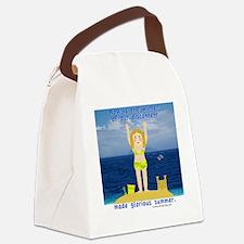 Summer Rosie Canvas Lunch Bag