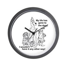 Gone2thedogs2 Wall Clock