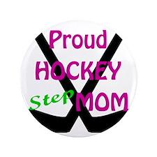 "Girls Hockey Black Sticks.gif 3.5"" Button"