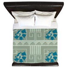 Lily of the Valley Greek 12x15 King Duvet
