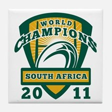 Rugby ball South Africa World Champio Tile Coaster