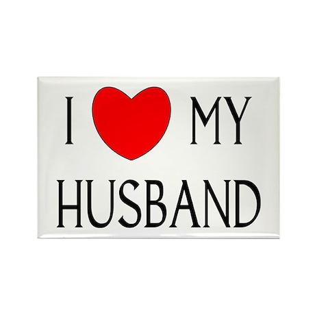 I LOVE MY HUSBAND Rectangle Magnet
