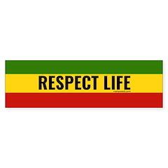 Rasta Respect Life Bumper Bumper Sticker