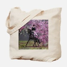 dressage horse 8x11 Tote Bag