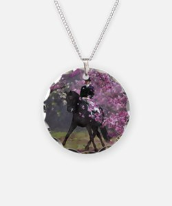 dressage horse 8x11 Necklace