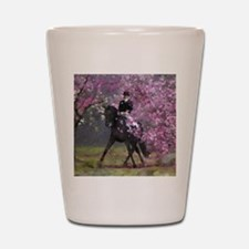 dressage horse 8x11 Shot Glass