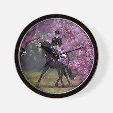 dressage horse 8x11 Wall Clock
