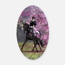 dressage horse 8x11 Oval Car Magnet