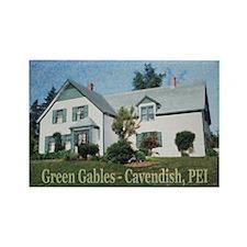 Green Gables Rectangle Magnet