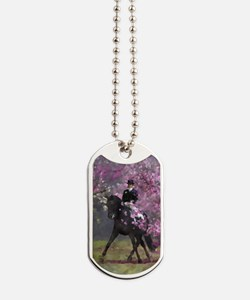 dressage horse 2x4 Dog Tags