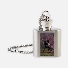 dressage horse 2x4 Flask Necklace