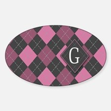 G_bags_monogram_08 Sticker (Oval)