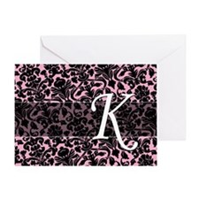 K_bags_monogram_04 Greeting Card