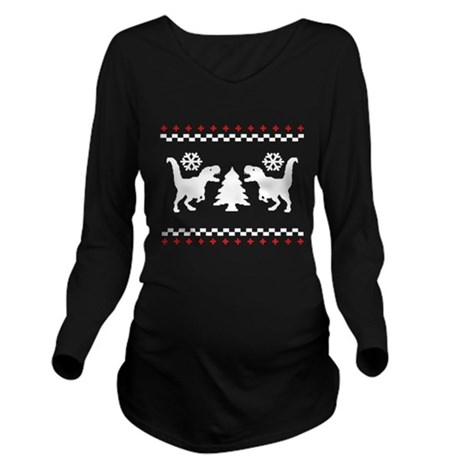 Dino Sweater Long Sleeve Maternity T-Shirt