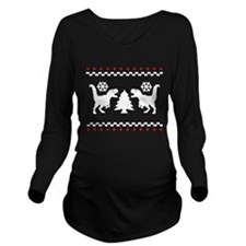 Dino Sweater Long Sleeve Maternity T-Shirt
