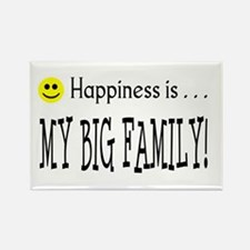 Happiness is MY BIG FAMILY Rectangle Magnet
