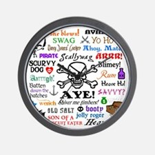 Pirate Phrases Wall Clock