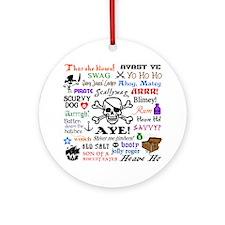 Pirate Phrases Round Ornament
